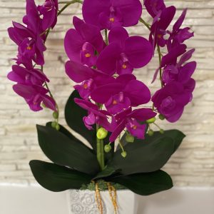 """Dirbtinių orchidėjų kompozicija """"Purple"""""""