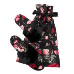 "Victoria's Secret ""Black:Bright Cherry Holiday Floral"" šlepetės"