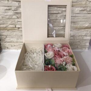 """Muilo gėlių dėžutė """"Gift&Flowers CHAMPAGNE"""""""