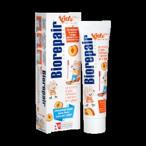 """""""BIOREPAIR Kids"""" persikų skonio dantų pasta vaikams be fluoro (50ml)"""