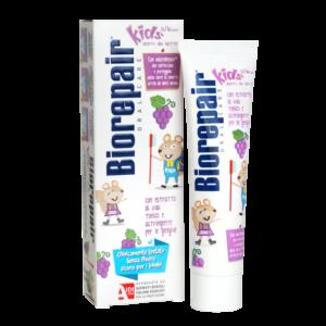 """""""BIOREPAIR Kids"""" vynuogių skonio dantų pasta vaikams be fluoro (50ml)"""